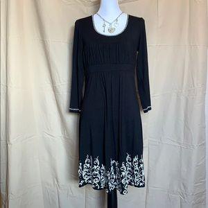 Stetson empire waist embroidery dress L